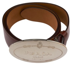 Prada Prada Brown Leather Belt, Size 30