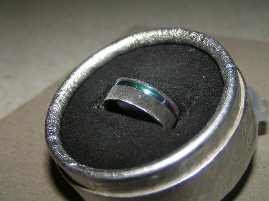 Silver/Rainbow 2 For Save 50% By Purchasing Two Items Free Shipping Men's Wedding Band