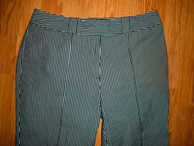 Anne Klein Dress Size 8 Straight Leg Mid Rise Mint Condition. Summer Office Career Business Casual Cute P526 Capri/Cropped Pants BLACK WHITE PIN STRIPED