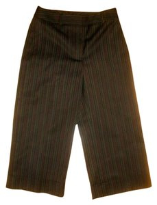 Isabella DeMarco Dress Capris Cropped Size 2 Capri/Cropped Pants BLACK BROWN GREEN MAROON PIN STRIPED