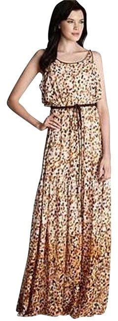 Cynthia Steffe Long Maxi Sexy Lovely Leoaprd Maxi Yellow Brown Maxi Color Chic Sexy Summer Maxi Summer Gypsy One Of A Kind Dress Image 0