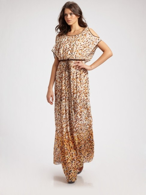 Cynthia Steffe Long Maxi Sexy Lovely Leoaprd Maxi Yellow Brown Maxi Color Chic Sexy Summer Maxi Summer Gypsy One Of A Kind Dress