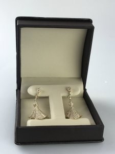 Other 3ctw. Yellow Gold and Diamond Dangle Earrings