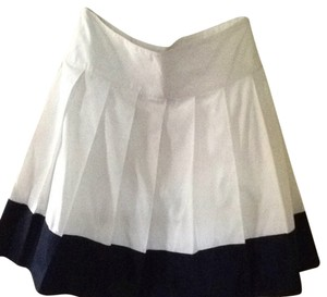 Banana Republic Skirt White With Blue Trim