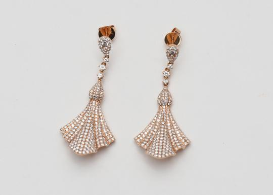 Other 18kt Rose Gold and Diamond Dangle Earrings