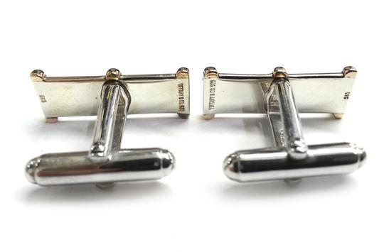 Tiffany & Co. Tiffany & Co Vintage Rare Sterling Silver & 14 Karat Yellow Gold Cufflinks