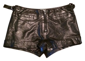 Kate Moss for Topshop Hotpants Leather Shorts BLACK
