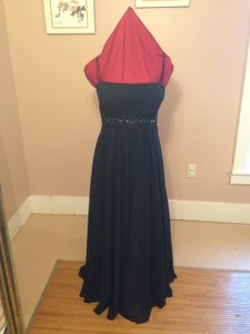 David's Bridal Black F12495 Dress