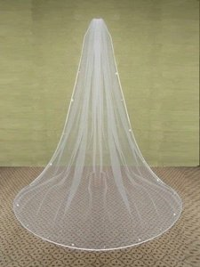 Elegance by Carbonneau White Long New Cathedral and Comb About 270cm Bridal Veil