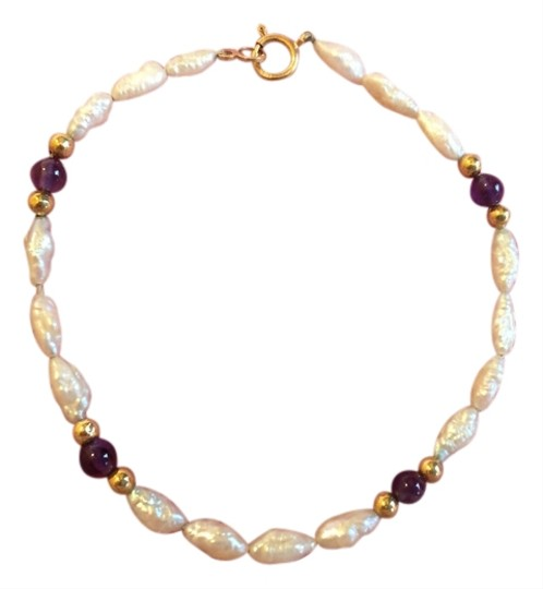 Preload https://item5.tradesy.com/images/14k-yellow-gold-and-pearl-amethyst-bracelet-9031234-0-6.jpg?width=440&height=440
