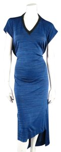 Blue Maxi Dress by Vivienne Westwood High Low Maxi V Neck