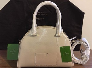 Kate Spade Patent Leather Satchel in PEBBLE