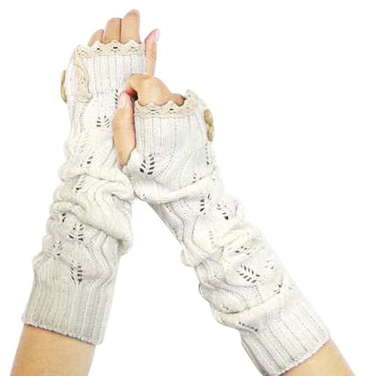 Preload https://item1.tradesy.com/images/white-and-beige-knitted-lace-trim-buttoned-fingerless-thumb-hole-arm-warmer-gloves-9032425-0-2.jpg?width=440&height=440