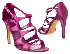 Moschino Heels Satin Purple Sandals