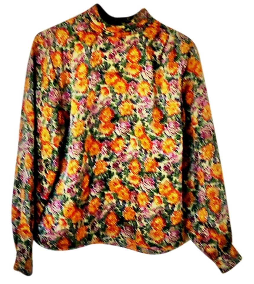 4d250a43f5744 Notations Floral Blouse Size 12 (L) - Tradesy