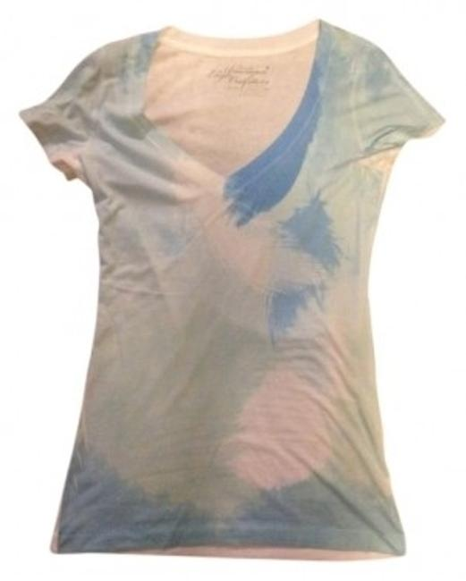 Preload https://img-static.tradesy.com/item/9033/american-eagle-outfitters-blue-v-neck-with-bluewhite-feather-design-tee-shirt-size-8-m-0-0-650-650.jpg