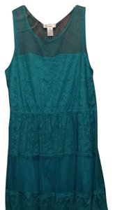 Other short dress Emerald green, turqouise on Tradesy