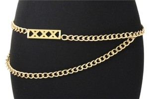 Women Fashion Belt Metal Chain Fashion Links Hip High Waist Gold Long Charm Small