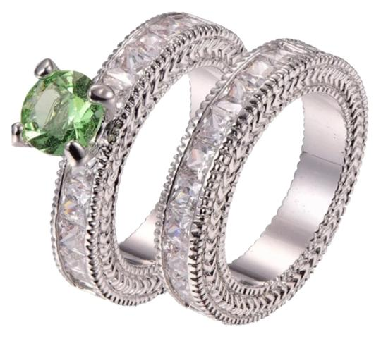 Preload https://item3.tradesy.com/images/peridot-and-silver-new-925-cz-eternity-2pc-set-6-ring-9033742-0-2.jpg?width=440&height=440