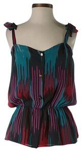 Myne Silk Art Deco Top .