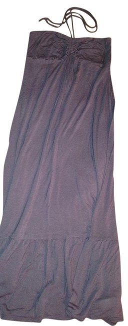 Item - Charcoal Gray Comfortable Halter Summer Spring Fall Long Casual Maxi Dress Size 8 (M)