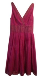Isaac Mizrahi for Target short dress Fuchsia with gold on Tradesy