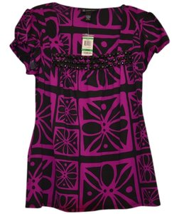 INC International Concepts Top Purple/black