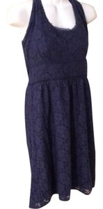 Laundry by Shelli Segal short dress 10 Medium Navy Lace on Tradesy