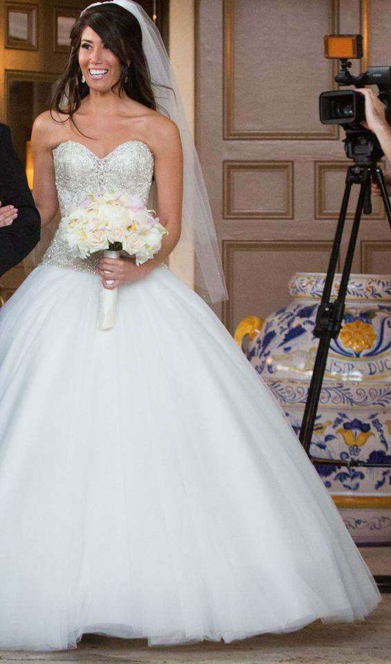 Sweetheart Princess Gown Wedding Dress With Dropped Waist In Tulle ...
