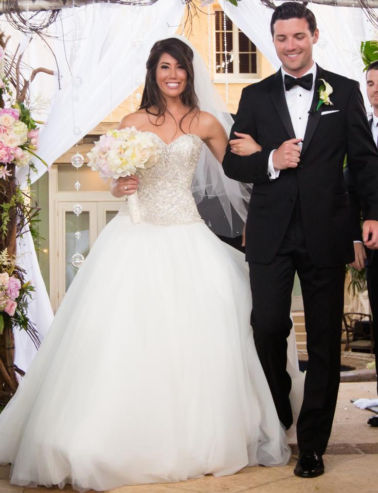 Ivory/ Silver Sweetheart Princess Gown with Dropped Waist In Tulle ...