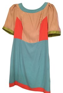Harlyn Anthropology Color Silk Dress
