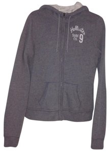 Hollister Coat Hooded Hood Gray Jacket