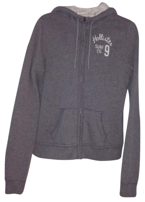 Preload https://item2.tradesy.com/images/hollister-gray-coat-hooded-hood-hoodie-white-zipper-zip-up-spring-jacket-size-8-m-9035371-0-2.jpg?width=400&height=650