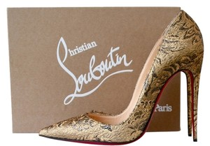Christian Louboutin So Kate 120 120mm Brocart Bronze Pumps