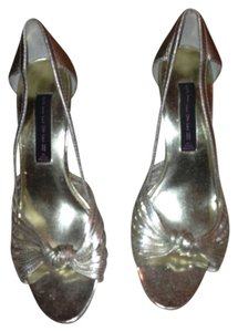 Steve Madden Heel Metallic Gold Pumps