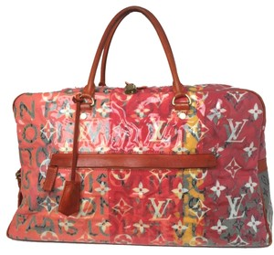 Louis Vuitton Orange Travel Bag