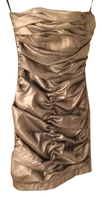 Preload https://item4.tradesy.com/images/jessica-mcclintock-gold-glamourous-ruched-bronze-small-xs-s-above-knee-formal-dress-size-4-s-9035608-0-2.jpg?width=400&height=650