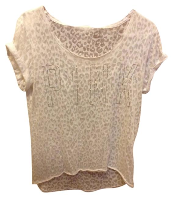 Preload https://item4.tradesy.com/images/pink-white-tee-shirt-size-petite-4-s-903593-0-0.jpg?width=400&height=650