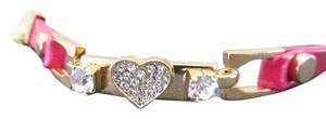 Betsey Johnson Crystal Heart Pink Bracelet