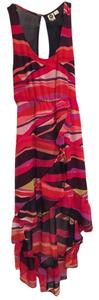 pink, stripes, blue, color, pattern, sheer, hot pink, red Maxi Dress by Roxy Surf Beach