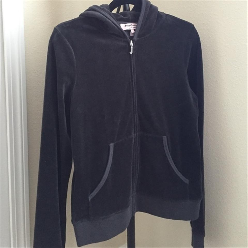 Juicy Couture Dark Gray Mint Velour/velvet Jacket With Hoodie ...