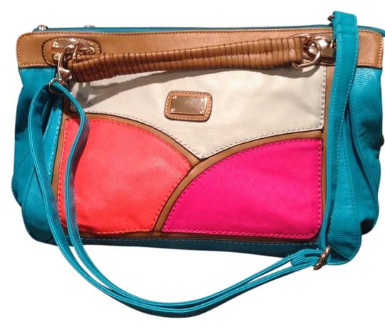 Preload https://item5.tradesy.com/images/large-multicolor-messanger-shoulder-satchel-tourquoisefuschia-tangerine-brown-cross-body-bag-903659-0-0.jpg?width=440&height=440