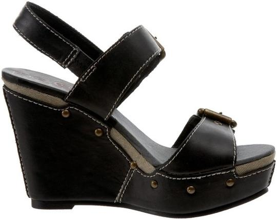 Big Buddha Black Wedges