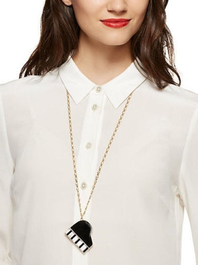 Kate Spade Kate Spade 88 Keys Necklace NWT MSRP$165 Exquisitely Designed with Baguettes as the Keys!