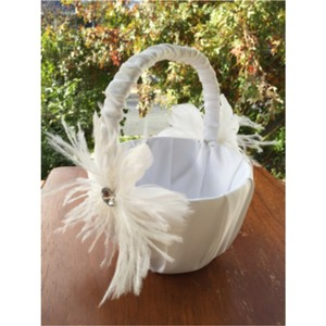 Lillian Rose White Flower Girl Basket