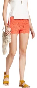 Free People Lace Coral Mini/Short Shorts Dragon Fruit