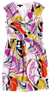 Lafayette 148 New York Art Deco Print Shift Sheath Dress