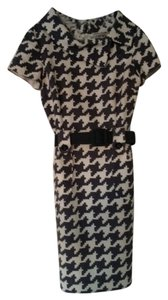 Chetta B. by Sherrie Bloom and Peter Noviello Portrait Collar Wear To Work Houndstooth Dress