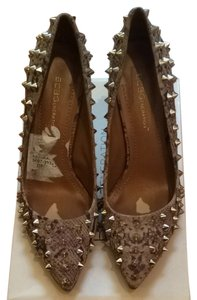 BCBGeneration Tan Snake Skin Pumps