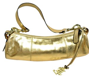 Ralph Lauren Satchel in Metallic Gold Leather